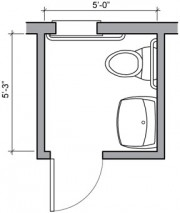 bathroom floor plan #1