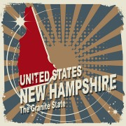 abstract new hampshire map