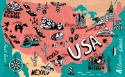 pictorial map of the United States
