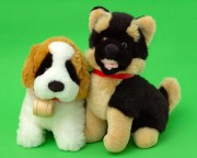 two plush toy dogs
