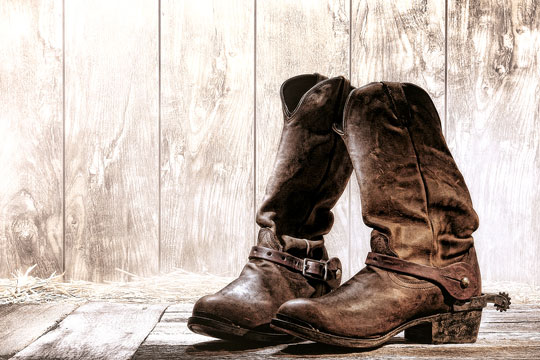rodeo-style cowboy boots