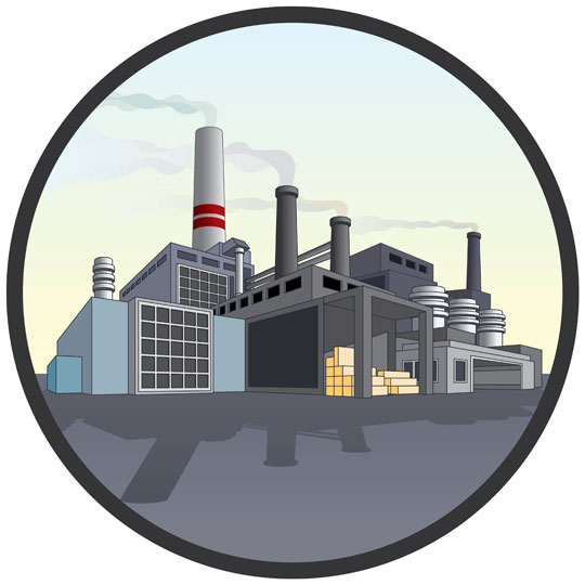 modern factory illustration