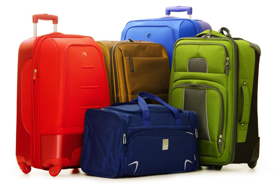 suitcases and travel bag